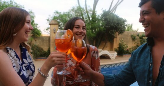 Drinks night at il-Wileg bed and breakfast in gozo