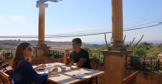 breakfast with a view at il-Wileg accommodation in Gozo
